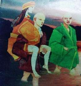 two-monks-and-a-woman