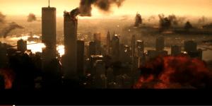 """צילום מה-9.11? לא! צילום מתוך סרט הפעולה """"ארמגדון"""", 1998."""