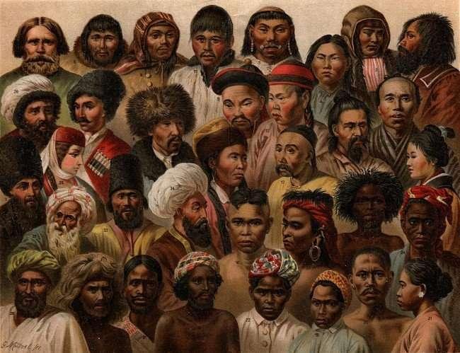 איור מ-1904 של המגוון האתני של אסיה