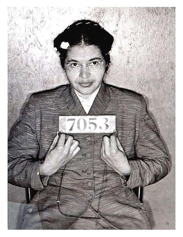 רוזה פארקס בעת מעצרה